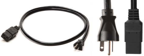 20A//125V 12 ft, Molded NEMA 5-20P to C19 Power Cord Iron Box Part # IBX-4929 12 AWG